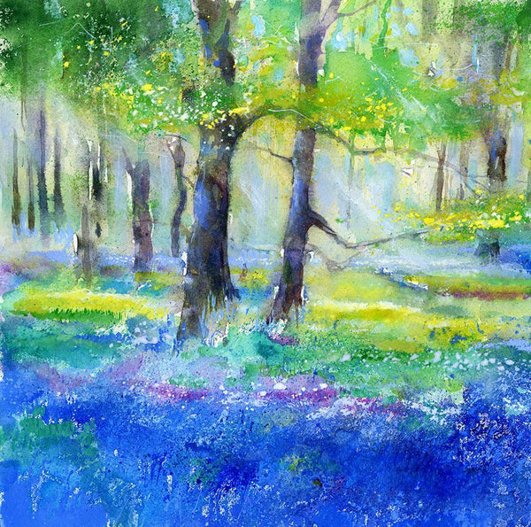 Bluebell Woods - Card-Sheila Gill Fine Art