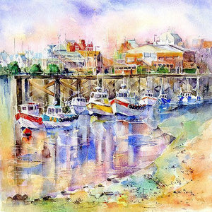 Bridlington Harbour Yorkshire  Print