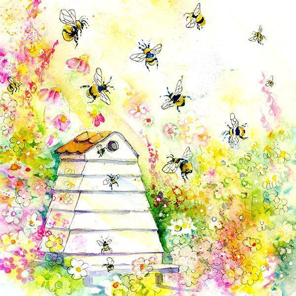Buzzy Bee Card-Sheila Gill Fine Art