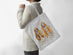 Dog - Basset Hounds- Tote Bag