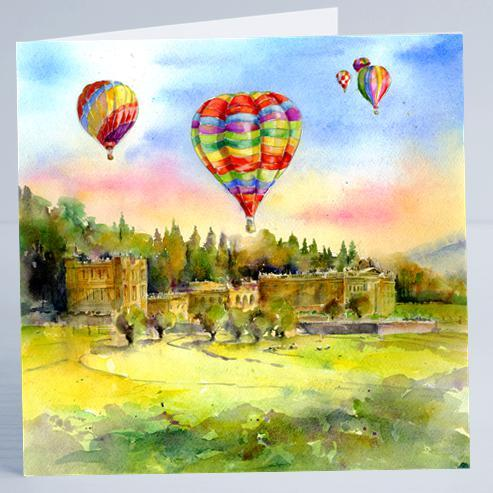 Chatsworth House Card-Sheila Gill Fine Art