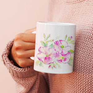 Rose Flower China Mug