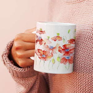 Poppies China Mug
