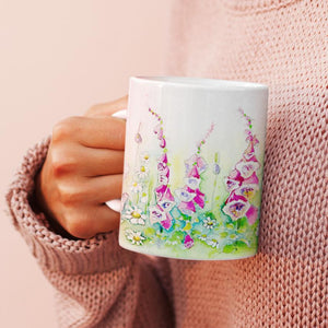Foxglove Flower China Mug