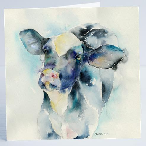 Cow Card-Sheila Gill Fine Art