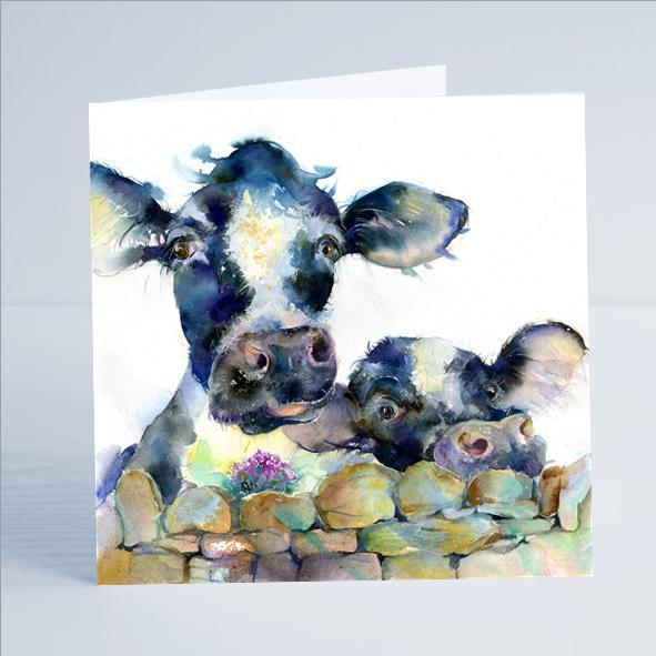 Cows Card-Sheila Gill Fine Art