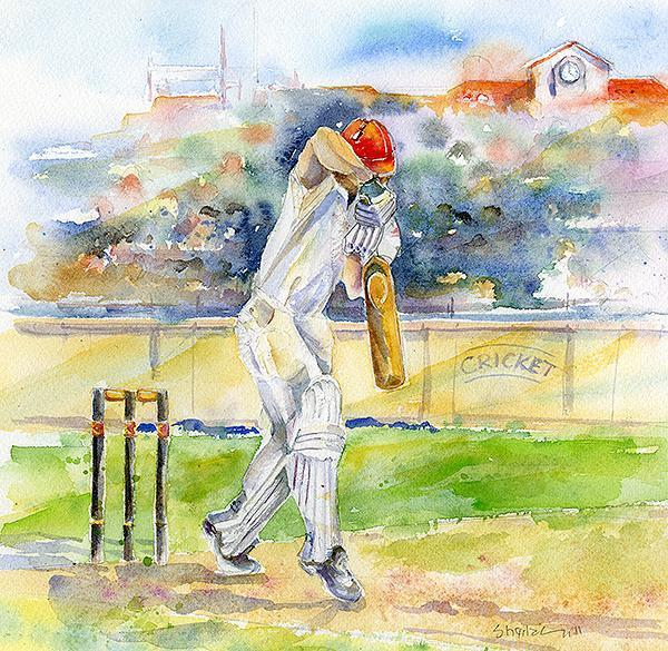 Cricket Greeting Card-Sheila Gill Fine Art