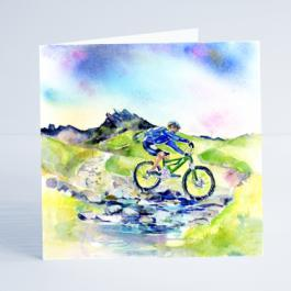 Cycling All Terrain - Card-Sheila Gill Fine Art