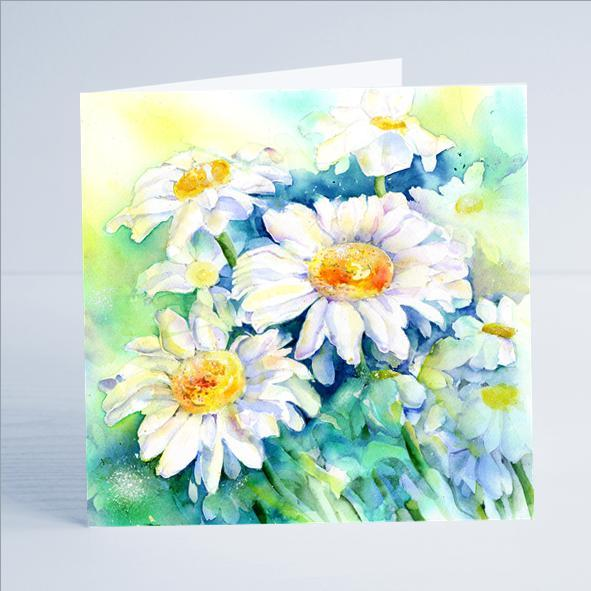 Daisy Flower Card-Sheila Gill Fine Art