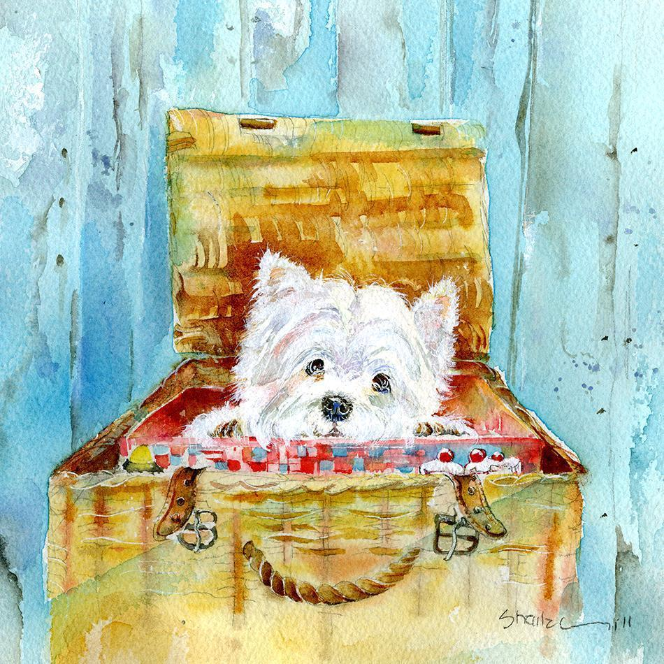 Highland Westie Dog  Print