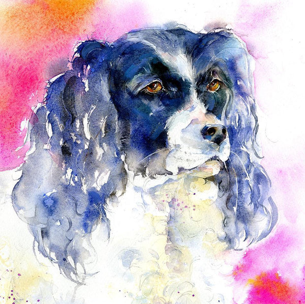 Spaniel Dog Card-Sheila Gill Fine Art
