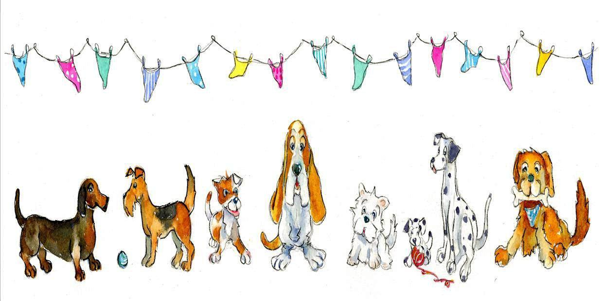 Dogs Card-Sheila Gill Fine Art