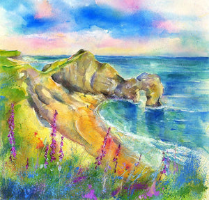 Durdle Door - Dorset - Card-Sheila Gill Fine Art