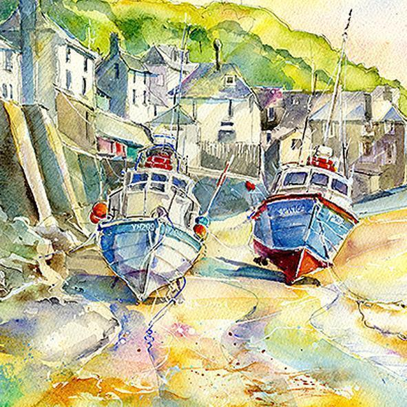 Fishing Boats - Card-Sheila Gill Fine Art