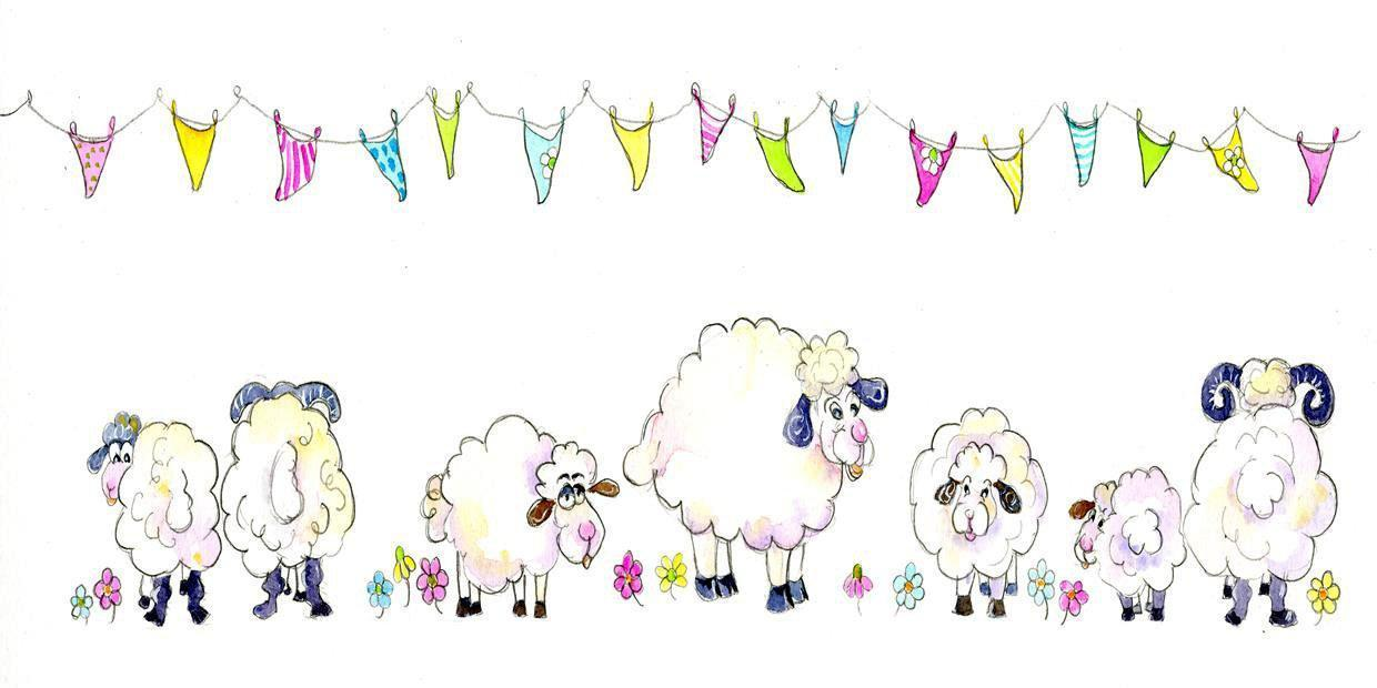 Sheep Card-Sheila Gill Fine Art