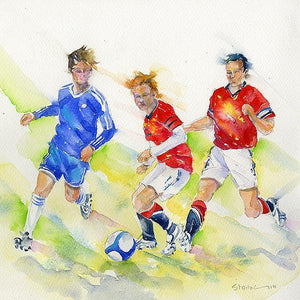 Football - Card-Sheila Gill Fine Art