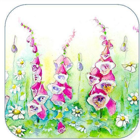 Foxgloves, Flower -  Coaster