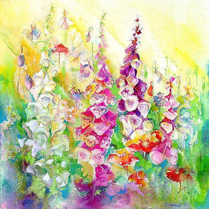 Foxgloves Wild About the Garden Print