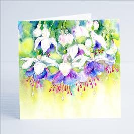 Fuschia Flower Card-Sheila Gill Fine Art