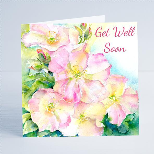Get Well Soon, Flower - Card-Sheila Gill Fine Art
