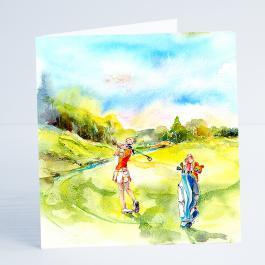 Golf - ladies Day - Card-Sheila Gill Fine Art