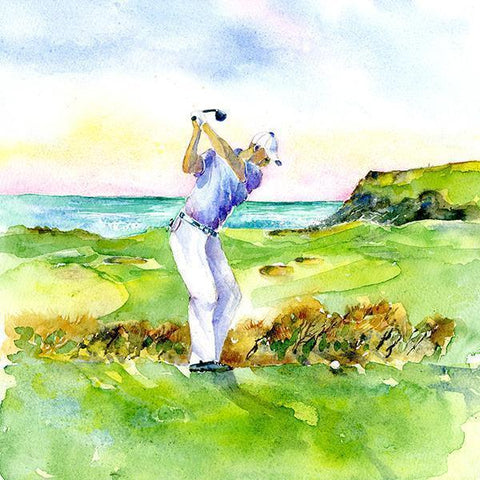 Golf Links Card-Sheila Gill Fine Art