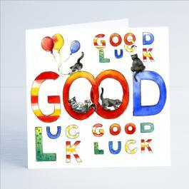 Good Luck - Card-Sheila Gill Fine Art