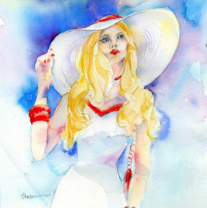 Gorgeous girl - Card-Sheila Gill Fine Art