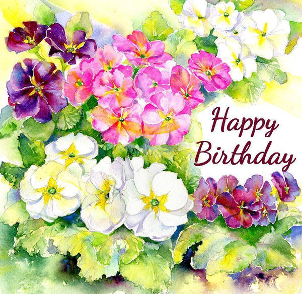 Happy Birthday - Card-Sheila Gill Fine Art