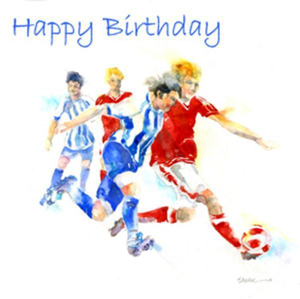 Happy Birthday Football - Card-Sheila Gill Fine Art