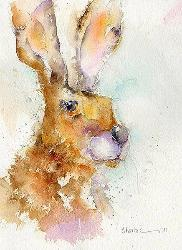 Hello There Hare Print