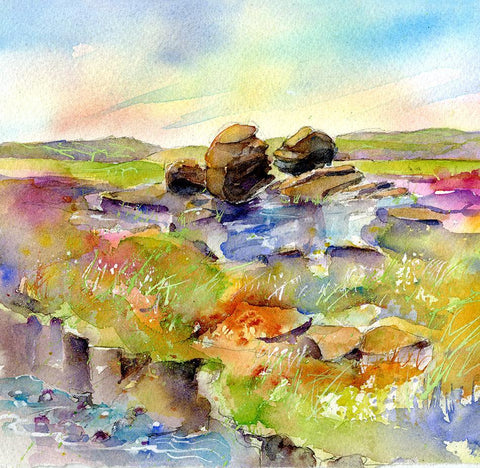 Kissing Stones - Card-Sheila Gill Fine Art