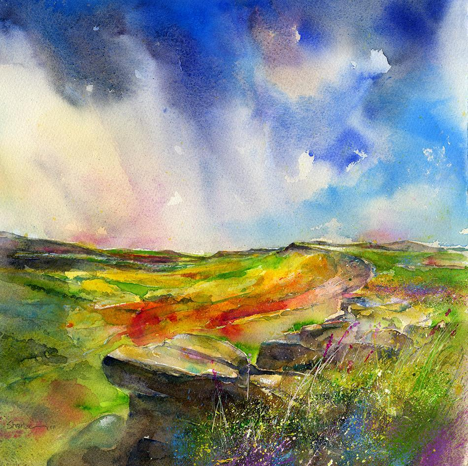 In coming Rain Stanage Edge Print