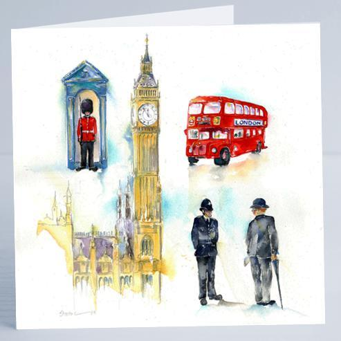 London - Card-Sheila Gill Fine Art