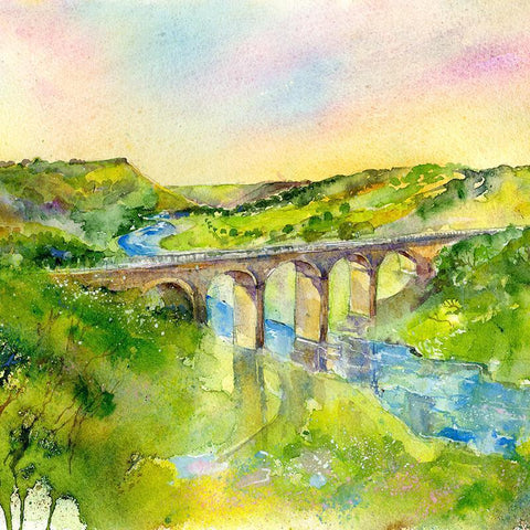 Monsal Dale - Card-Sheila Gill Fine Art