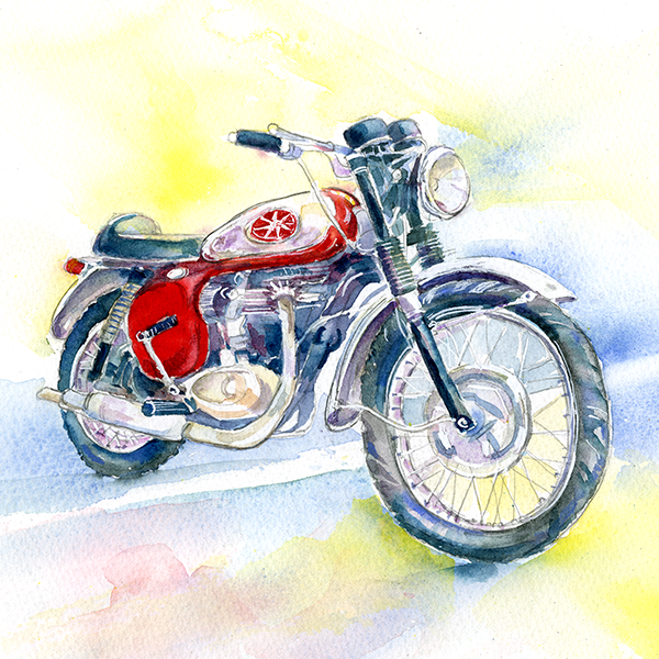 BSA Motor Bike Card-Sheila Gill Fine Art