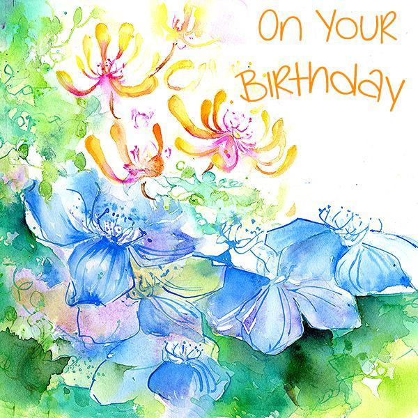 On Your Birthday, Flower - Card-Sheila Gill Fine Art