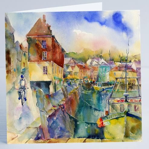 Padstow Cornwall - Card-Sheila Gill Fine Art