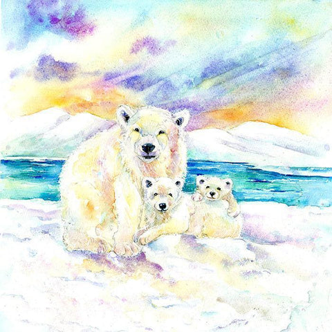 Polar Bears Card-Sheila Gill Fine Art