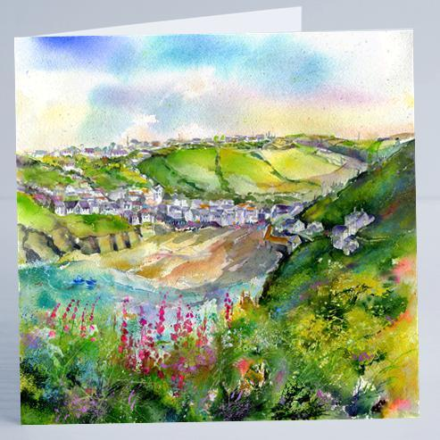 Port Isaac Cornwall- Card-Sheila Gill Fine Art