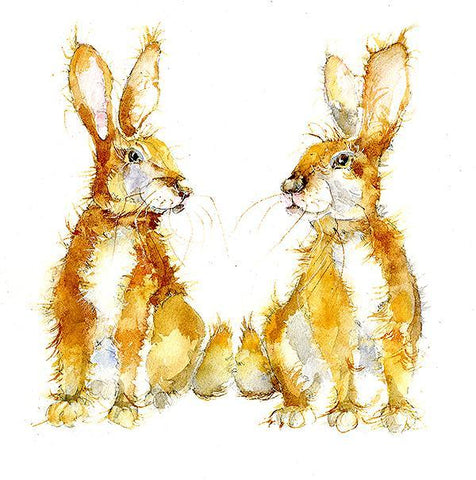 Rabbits Cabbage and Patch  Print