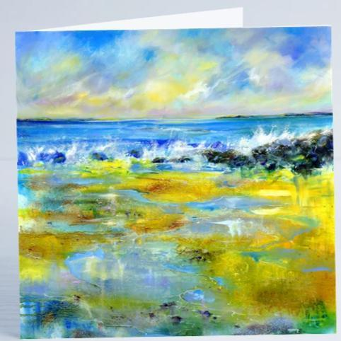 Seascape Reflections - Card-Sheila Gill Fine Art