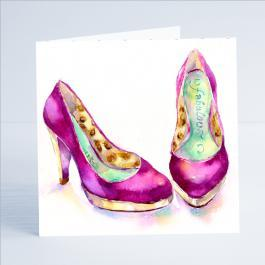 Shoes - Fabulous - Card-Sheila Gill Fine Art