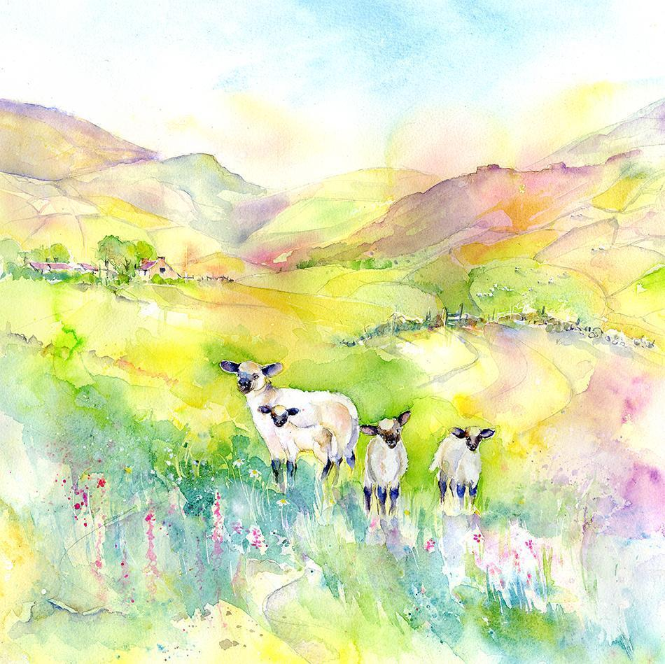 Spring Time Lambs Print