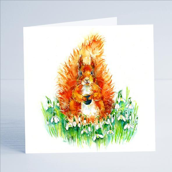 Squirrel Card-Sheila Gill Fine Art