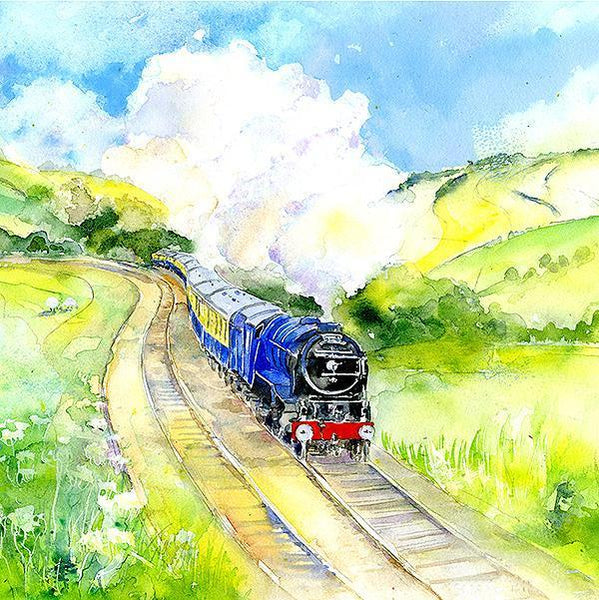 Steam Train Card-Sheila Gill Fine Art