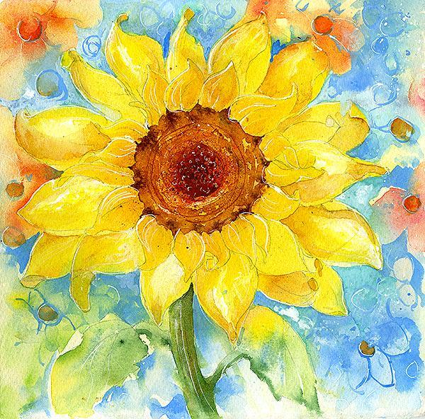 Sunflower Flower Card-Sheila Gill Fine Art