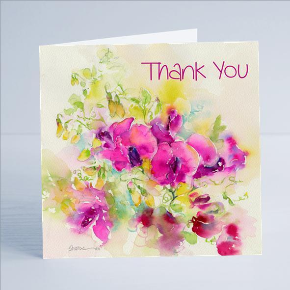 Thank You, Flower - Card-Sheila Gill Fine Art