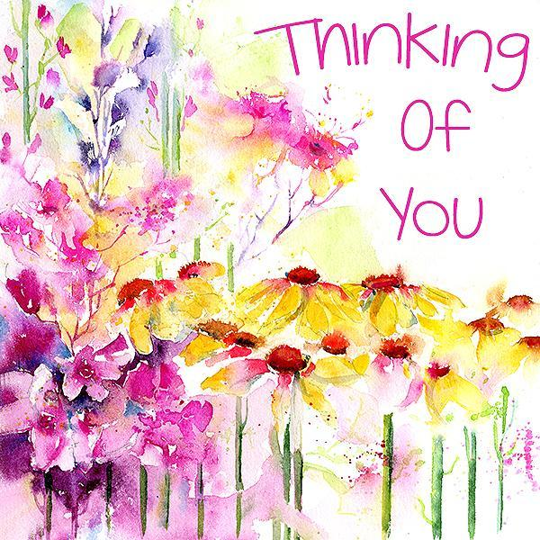 Thinking Of You - Card-Sheila Gill Fine Art