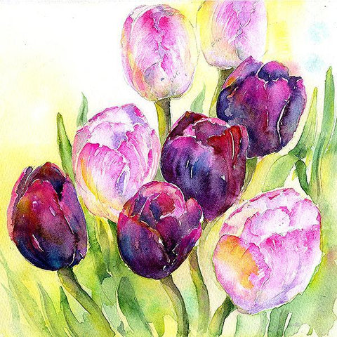 Tulips Flower Card-Sheila Gill Fine Art